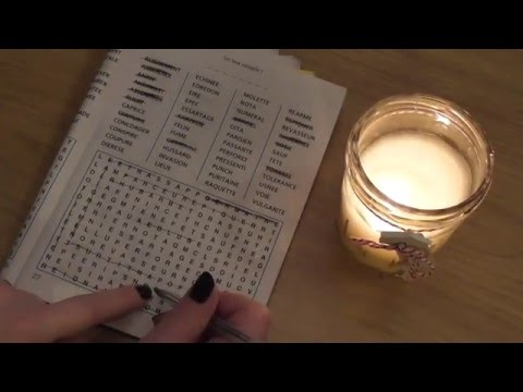 ASMR JEUX DE MOTS - French Asmr - Matches/Candle/Game