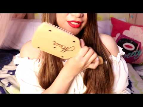 ASMR Relaxing Hair Brushing, Hair Play and OIL Sounds