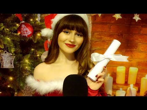 ASMR ROLEPLAY~Mrs Claus Whispers your names~Checking the Nice List