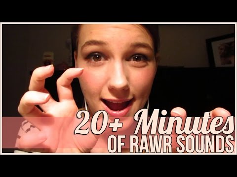 [BINAURAL ASMR] 20+ Minutes of Rawr Sounds