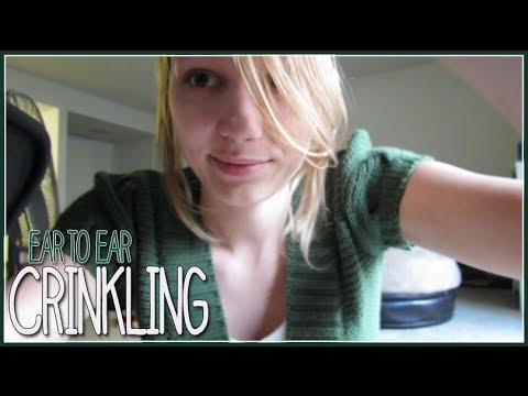 [BINAURAL ASMR] Ear-to-Ear Crinkling (with a hint of visual)