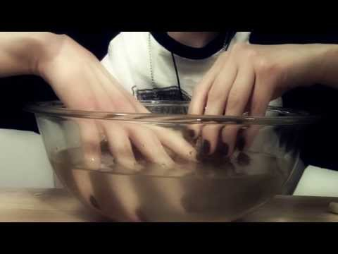 ASMR with sponges, water, ear to ear whispering