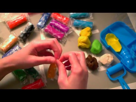 ASMR Unboxing a Different Set of Play-Doh | Crinkly Sounds | Whispering