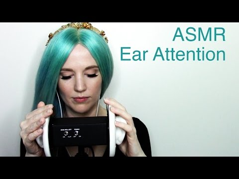 ASMR Ear Attention with tapping, ear brushing, inaudible whispering, and more
