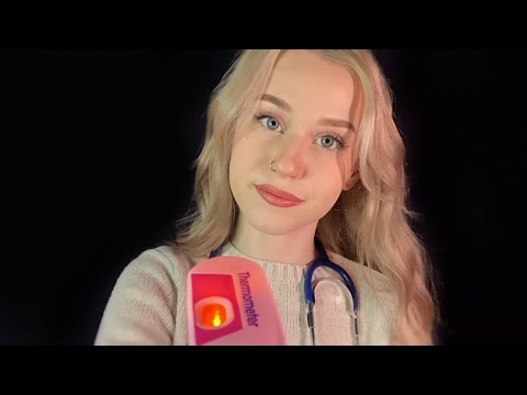 ASMR   Doctor Treats Your Cold (Flashlight, Glove Sounds, Whispered)