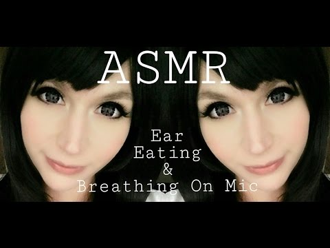 ASMR Ear Eating & Breathing on Mic . Intense Close Up Sounds