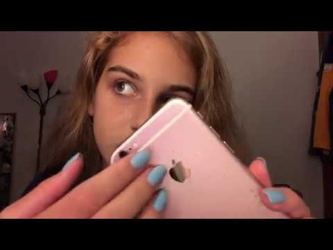ASMR - fast phone screen tapping - whispered
