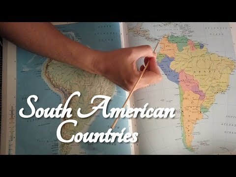 ASMR South American Countries (On Map with Pointer, Atlas)