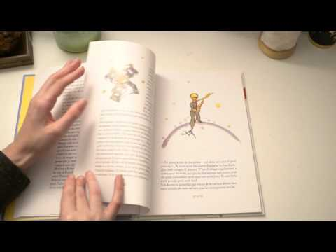 ASMR Little Prince Children's Book In Catalan   Turning Pages   Whispering Comments