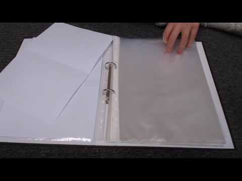 ASMR Organising Punched Pockets And Documents Into Folder Intoxicating Sounds Sleep Help Relaxation