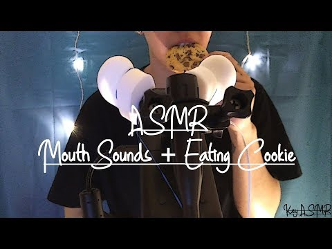 ASMR Mouth Sounds + Eating Cookie || ASMR by KeY ||