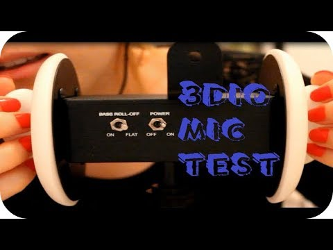 ASMR 3Dio Mic Test, Ear Touching/Brushing, Whispered