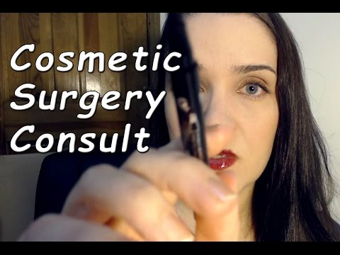 ASMR Cosmetic Surgery Consultation + Treatment, Face Touching, Latex, Massage
