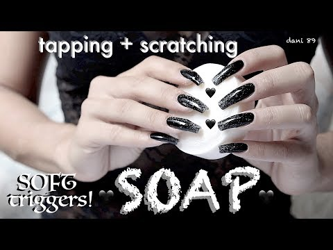 * Black-deep TRIGGERS! 🖤 Your favorites TINGLES for intense ASMR 🎧 SOAP ❀ TAPPING + Scratching! 🖤