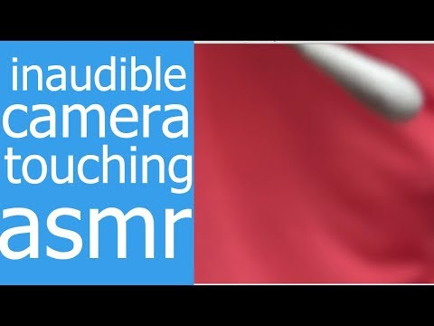 Inaudible camera touching. Q-tip, brush, finger. ASMR intentional