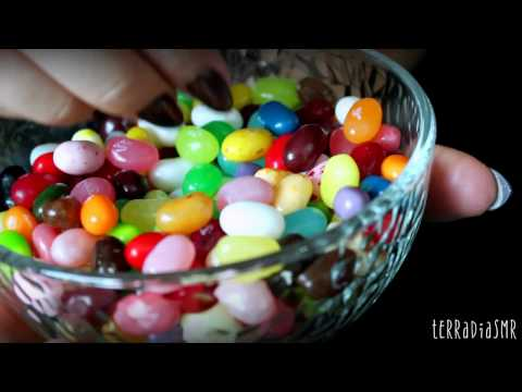 ASMR eating sounds ( crunchy & chewy sweets )