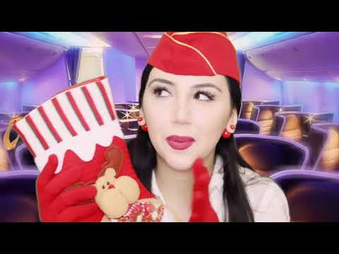 ASMR AIRLINES ✈️ First Class Flight ✈️ Relaxing Singing to Sleep - Flight Attendant RolePlay