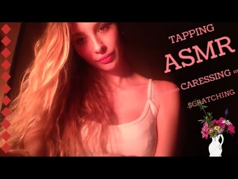 ASMR tapping scratching and caressing ♥