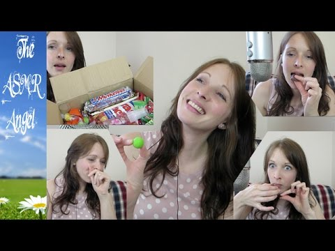 ASMR Whispered Unboxing & Eating Candy from Brittany ASMR (3D Sound)