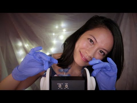 S l o w Brain Tapping & Gentle Ear Cleaning ASMR (No Talking) Oils/Gloves/Cotton