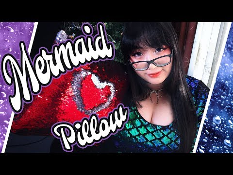 ASMR Shimmering Mermaid Pillow 🧜♀️ Tingly Sequin Sounds