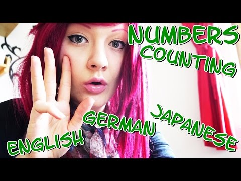 HARMONY ASMR Count in Japanese, German and English