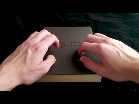 ASMR - Tapping and scratching on headphone box