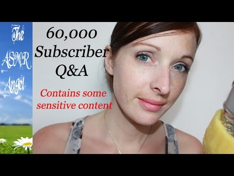60,000 Subscribers Q&A - ASMR Soft Ear to Ear Whispering
