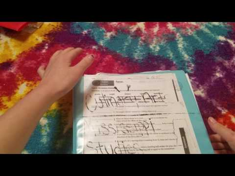 ASMR ~ Going Through Old School Papers ~ Paper Sounds ~ Low Voice ~ Part 2