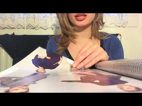 Page Flipping and Licking fingers + Whispering (ASMR Paper Sounds)