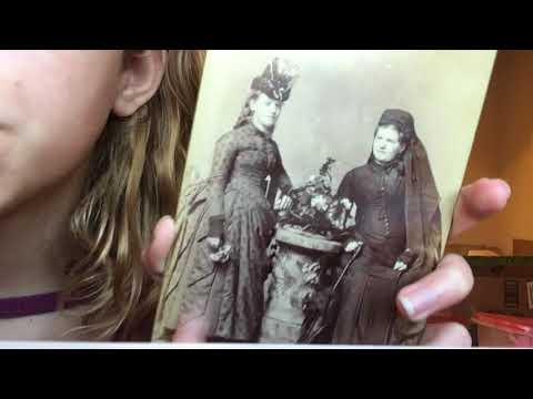 ASMR Antique Photos~ Close up whisper and tapping w/ lapel mic