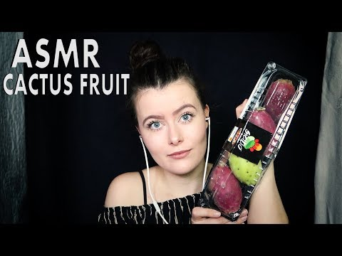 ASMR Eating Cactus Fruit (peeling & cutting fruit, tapping, eating) | NO TALKING | Chloë Jeanne ASMR