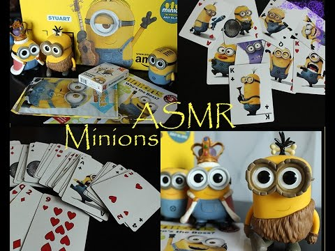 ASMR  variety sounds (unboxing minion haul)