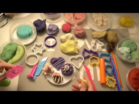 Kid's ASMR Play-Doh Cakes and Cookies | No Talk | Homemade