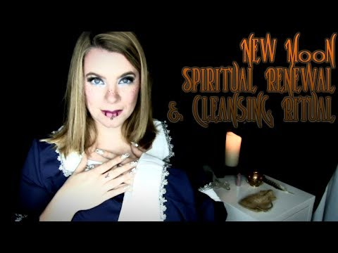 New Moon Renewal Ritual and Crystal Cleansing - ASMR
