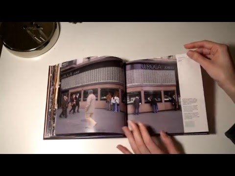 ASMR Barcelona Traditional Old Shops Book - Page Turning - Tracing - No Talk