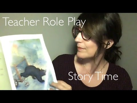 ASMR (Binaural) School Teacher Role Play | Page Turning and Crinkly Sounds for Tingles | Story Time