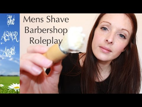 ASMR Role Play - Men's Shave Barber Shop