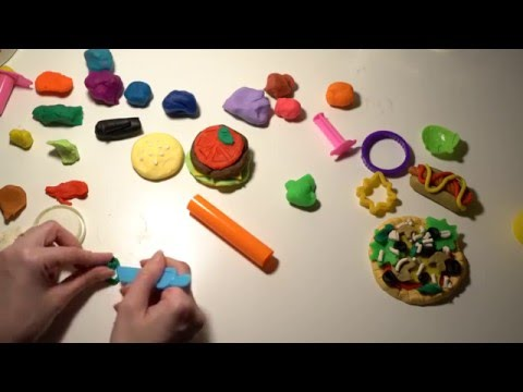ASMR Part 2 Playing with Chinese Play-Doh Set | Making Food | Whispering | LITTLE WATERMELON