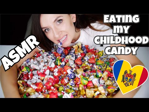 ASMR eating sweets from Moldova