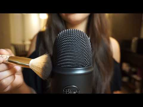 Microphone Brushing with FLUFFY Makeup Brushes | ASMR
