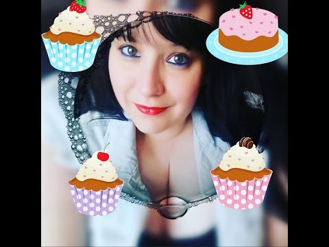 Asmr - Tapping on CAKE related items - for Alzheimer's Society charity & making cupcakes