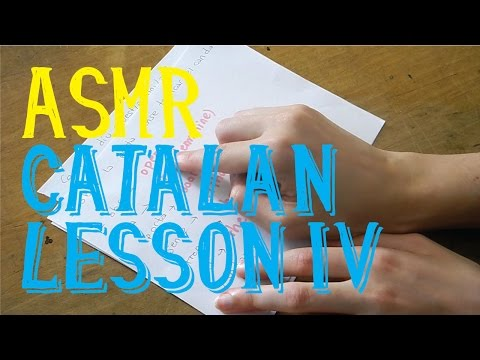 ASMR Catalan Lesson Part 4 in English | Whispering | LITTLE WATERMELON