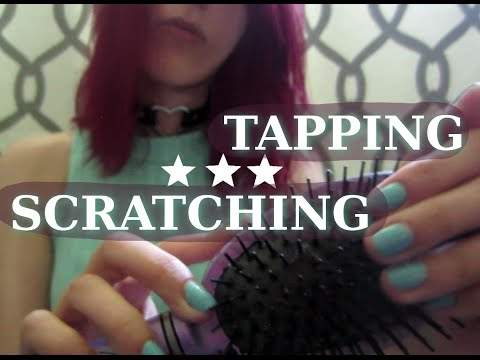 ASMR - TAPPING & SCRATCHING ~ On Book, Hair Brush, Hard Plastic, Page Turning ~
