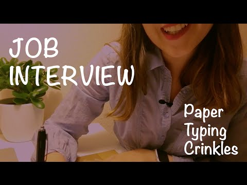 ASMR Job Interview Role Play 📋 Paper, writing, typing [Soft Spoken]