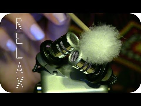 ASMR Fluffy Feather Pick on Microphone (No Talking)