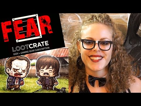 Toy Tingles #6, Loot Crate October 2014 ASMR Unboxing Walking Dead & Fear Theme