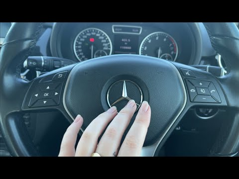ASMR in my car 🚗 (tapping, scratching, random triggers)