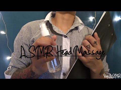 ASMR Head Massage + Spray || ASMR by KeY ||