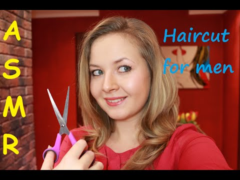 """ASMR Role-play """"Haircut and SPA for men""""/Whisper, scalp massage and personal attention"""